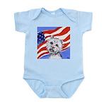 Westie w American Flag Infant Creeper
