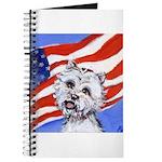 Westie w American Flag Journal