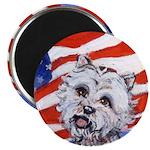 Westie w American Flag 2.25
