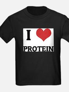 I Love Protein Ash Grey T-Shirt