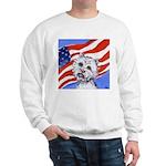 Westie w American Flag Sweatshirt