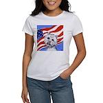 Westie w American Flag Women's T-Shirt
