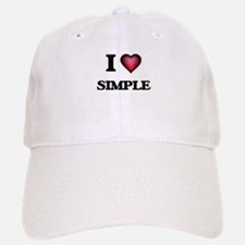 I Love Simple Baseball Baseball Cap