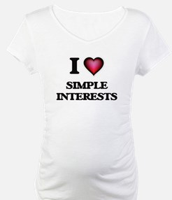 I Love Simple Interests Shirt