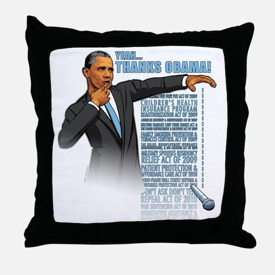 Funny Obama inauguration Throw Pillow