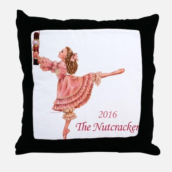 2016 Nutcracker Ballet Throw Pillow