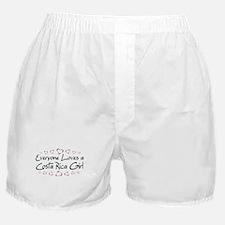 Costa Rica Girl Boxer Shorts