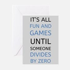 Divide By Zero: Funny Math Quote Greeting Cards