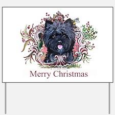 Merry Cairn Christmas Yard Sign