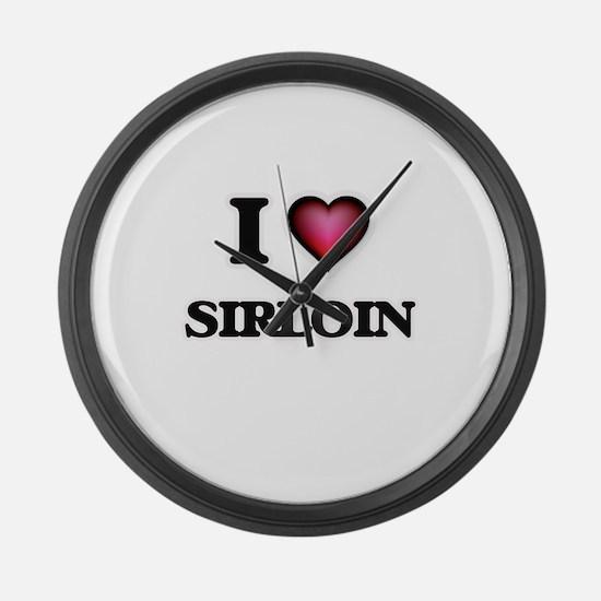I Love Sirloin Large Wall Clock