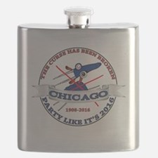 Chicago Billy Goat Curse is Broken Flask