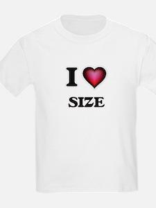 I Love Size T-Shirt