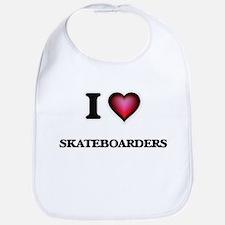 I Love Skateboarders Bib