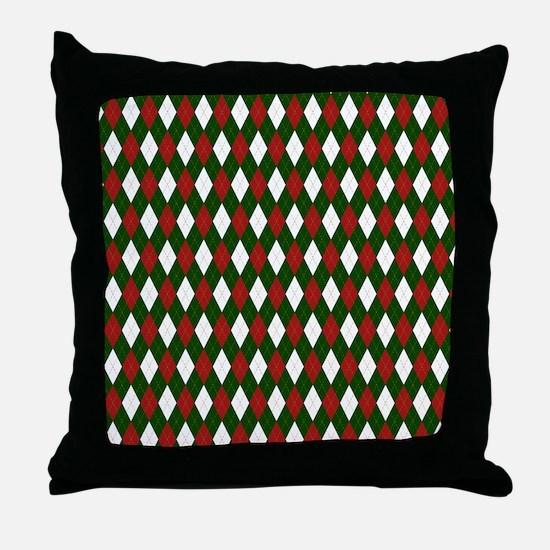 Green and Red Argyle Harlequin Diamond Pattern Thr