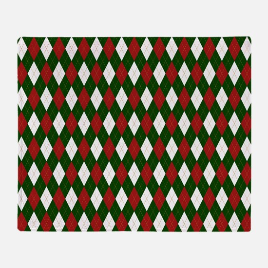 Green and Red Argyle Harlequin Diamond Pattern Thr