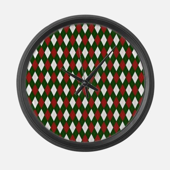 Green and Red Argyle Harlequin Diamond Pattern Lar