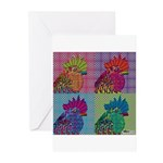 Roosters Gone Psycho Greeting Cards (Pk of 10)