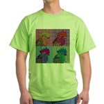 Roosters Gone Psycho Green T-Shirt