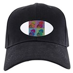 Roosters Gone Psycho Black Cap