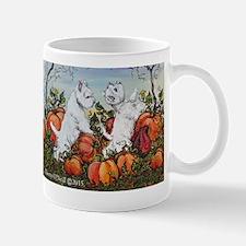 Westie Pumpkins Mugs