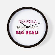 Sophia Is Kind of a Big Deal Wall Clock