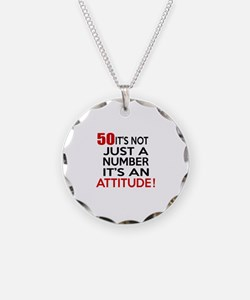 50 It Is Not Just a Number B Necklace Circle Charm