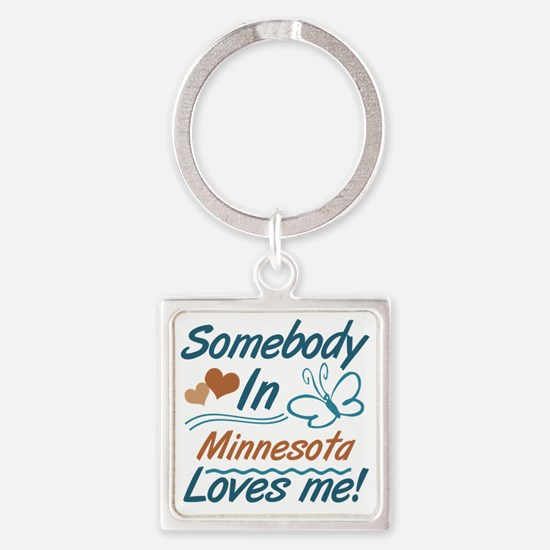 Cute Someone los angeles loves me Square Keychain