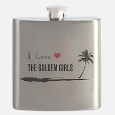 I Love Golden Girls Flask