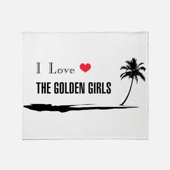 I Love Golden Girls Throw Blanket