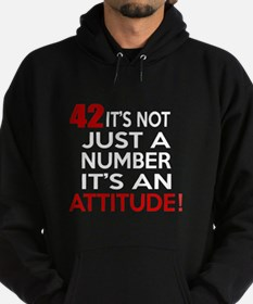 42 It Is Not Just a Number Birthday Hoodie (dark)