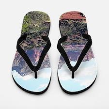 Rocks near Sedona, Arizona 6 Flip Flops