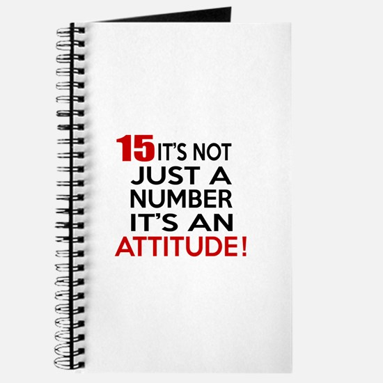15 It Is Not Just a Number Birthday Design Journal