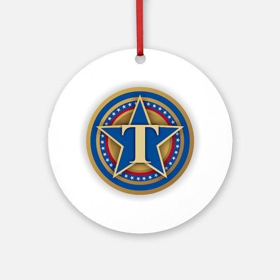 T for Trump Round Ornament