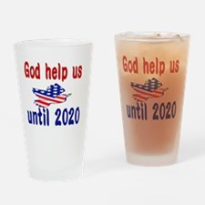 Funny Help Drinking Glass