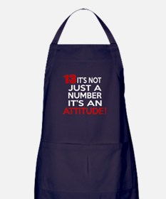 13 It Is Not Just a Number Birthday D Apron (dark)
