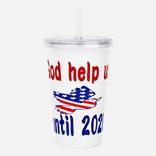 God help us Acrylic Double-wall Tumbler