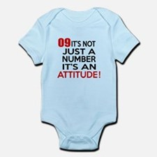 09 It Is Not Just a Number Birthda Onesie