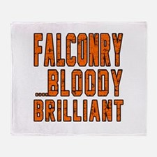 Falconry Bloody Brilliant Sports Des Throw Blanket