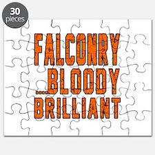 Falconry Bloody Brilliant Sports Designs Puzzle