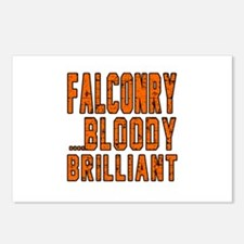 Falconry Bloody Brilliant Postcards (Package of 8)