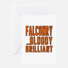 Falconry Bloody Brilliant Sports Des Greeting Card