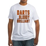 Darts player Fitted Light T-Shirts