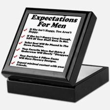 Marriage Expectations For Men Keepsake Box
