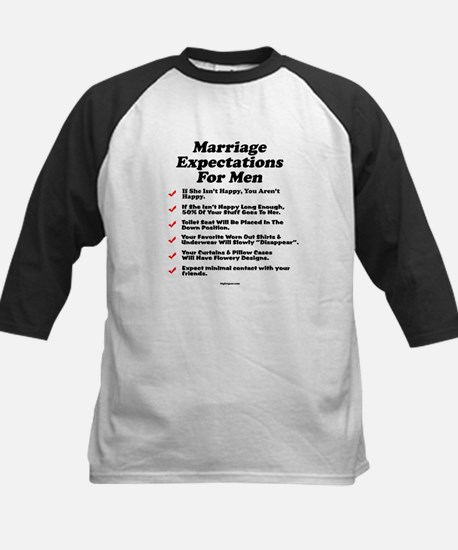 Marriage Expectations For Men Kids Baseball Jersey