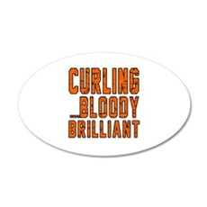 Curling Bloody Brilliant Spo Wall Decal