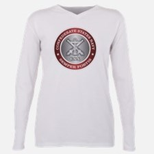 Confederate States Navy Plus Size Long Sleeve Tee