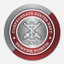 Confederate States Navy Round Car Magnet