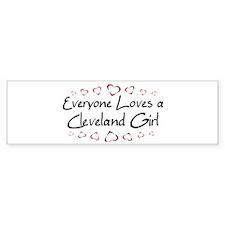 Cleveland Girl Bumper Bumper Sticker