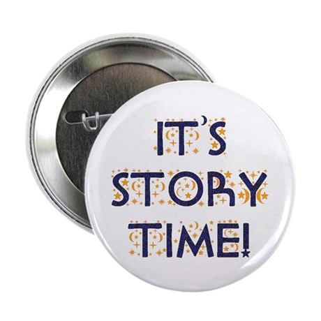 """Story Time-Night Sky 2.25"""" Button (10 pack)"""