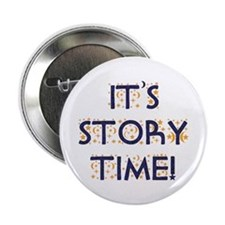 "Story Time-Night Sky 2.25"" Button"